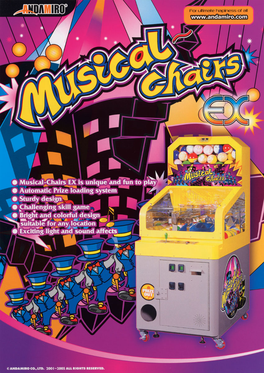 Musical Chairs & The Arcade Flyer Archive - Arcade Game Flyers: Musical Chairs ...