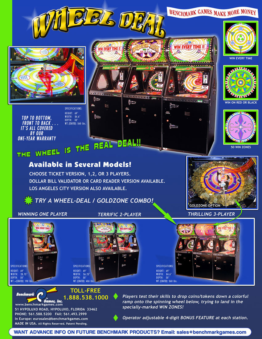 wheel deal arcade game