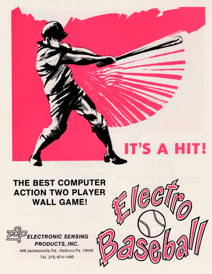 The Arcade Flyer Archive - Arcade Game Flyers: Electro Baseball ...