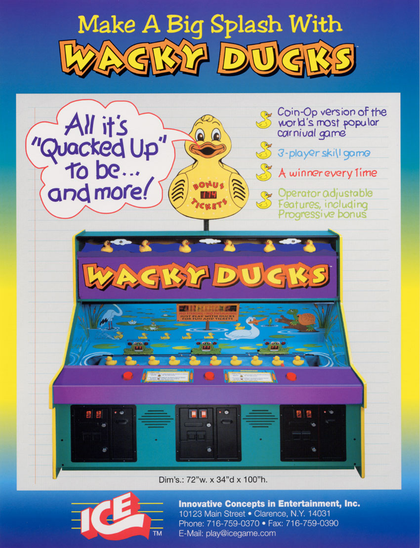 The Arcade Flyer Archive Arcade Game Flyers Wacky Ducks