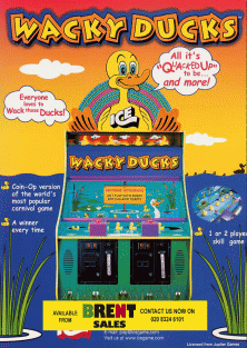 WACK A DOODLE DOO      ARCADE   GAME  FLYER