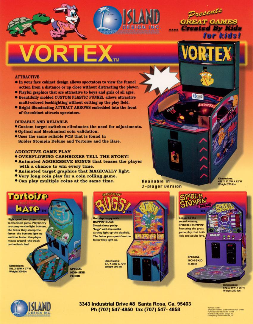 The Arcade Flyer Archive - Arcade Game Flyers: Vortex, Island Design