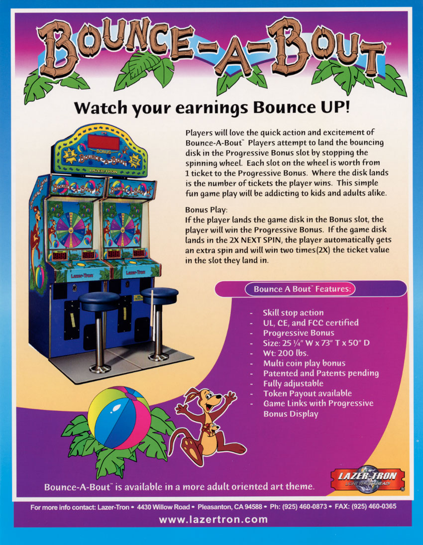 The Arcade Flyer Archive - Arcade Game Flyers: Bounce-A-Bout, Lazer-Tron