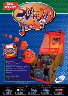 The Arcade Flyer Archive Arcade Game Flyers SlamN JamFlyers