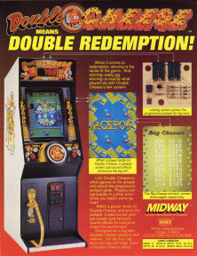 the arcade flyer archive arcade game flyers double cheese midway