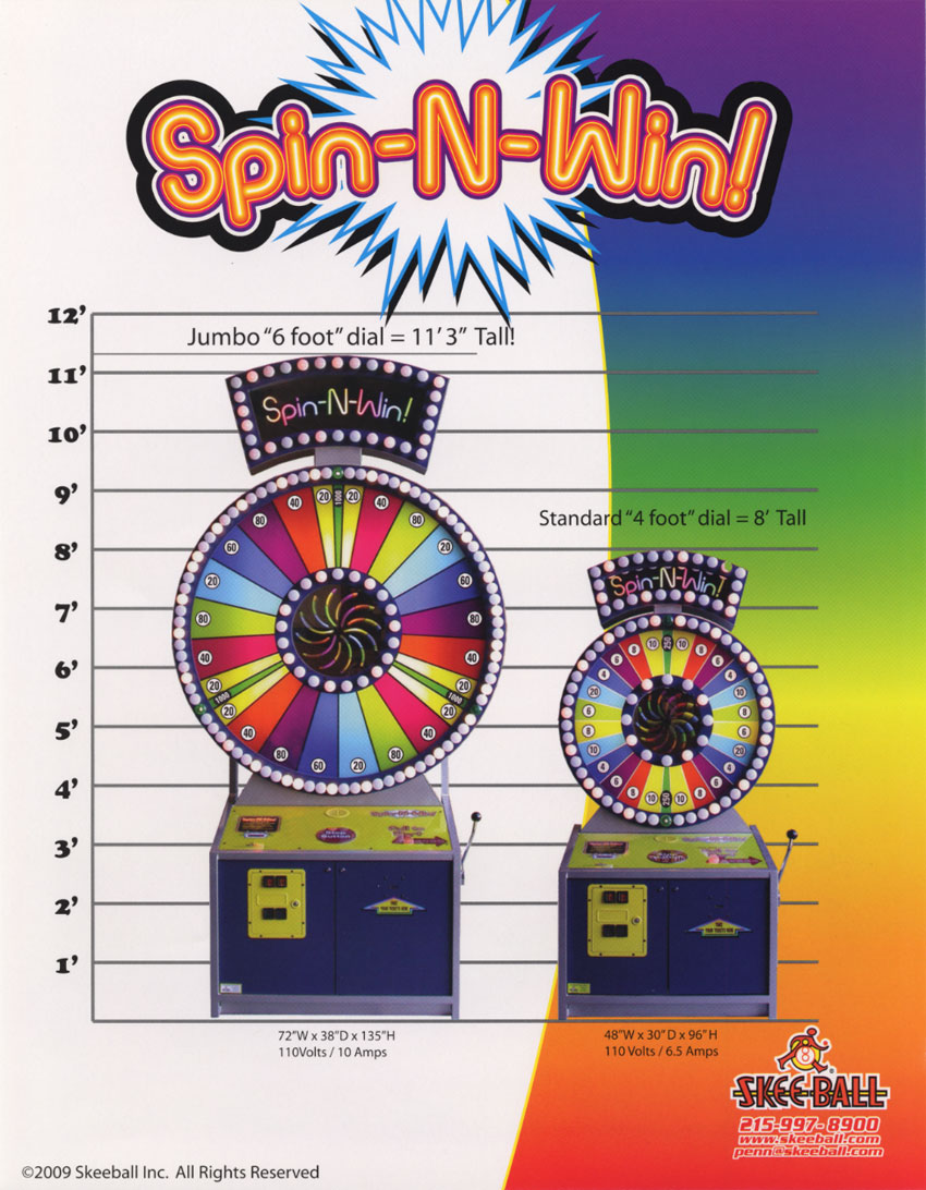 The Arcade Flyer Archive - Arcade Game Flyers: Spin-N-Win