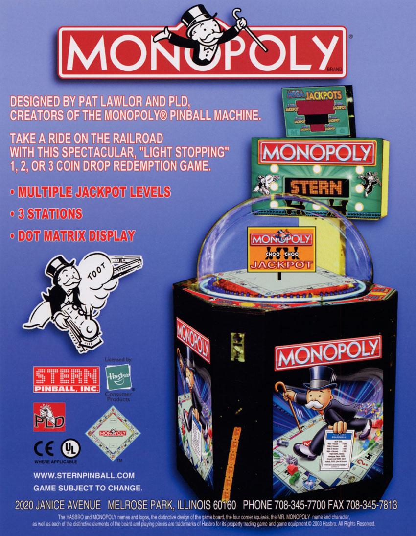 monopoly arcade machine
