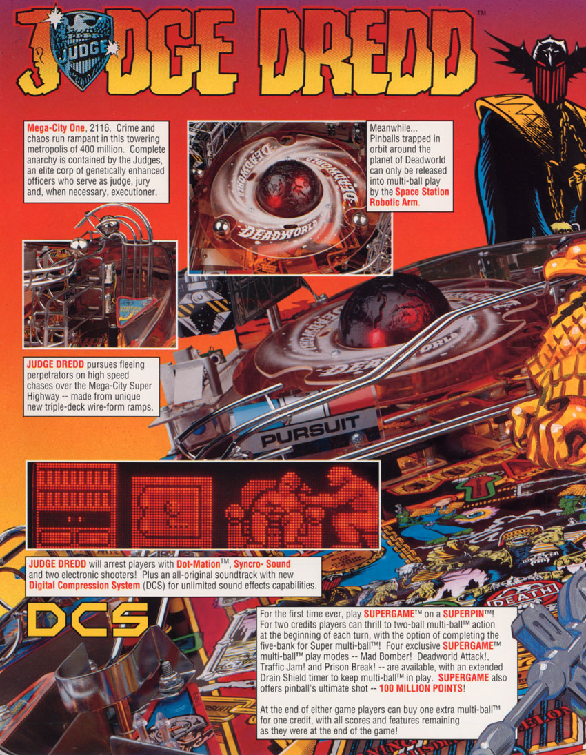 release date: cheaper size 40 The Arcade Flyer Archive - Pinball Machine Flyers: Judge ...