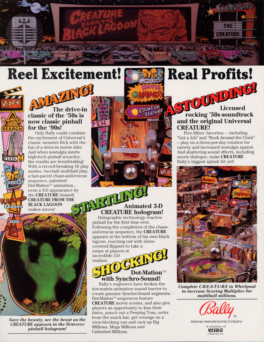 The Arcade Flyer Archive - Pinball Machine Flyers: Creature