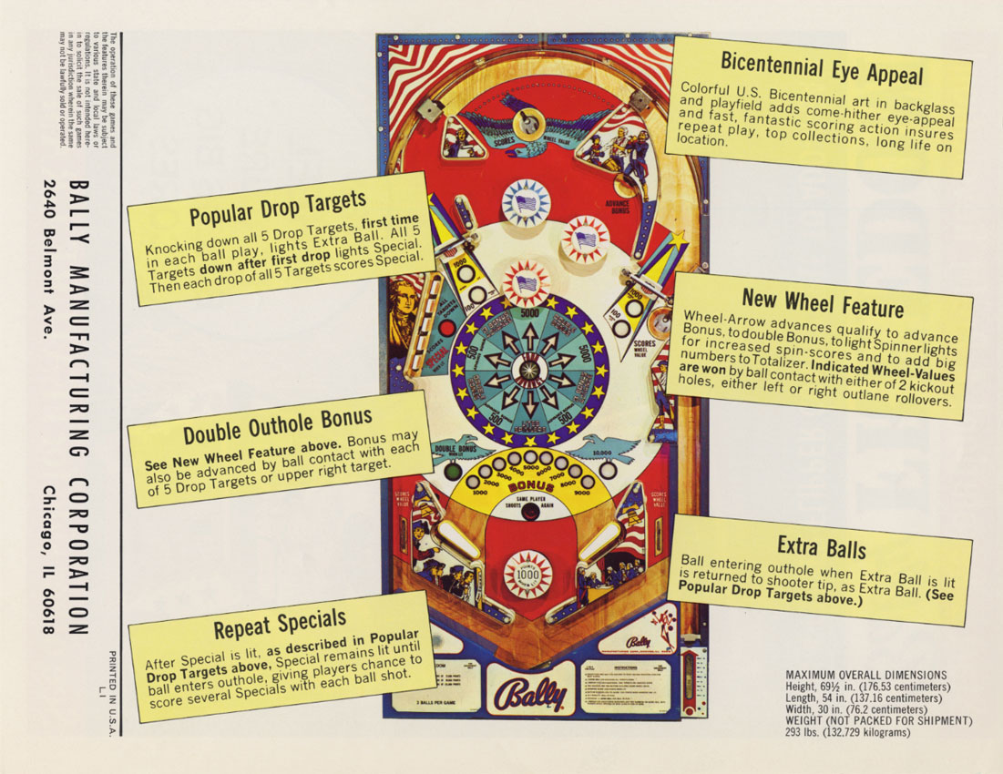 limited guantity sold worldwide best price The Arcade Flyer Archive - Pinball Machine Flyers: Freedom ...