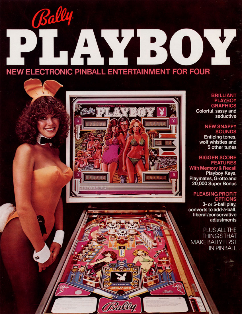 the arcade flyer archive   pinball machine flyers playboy