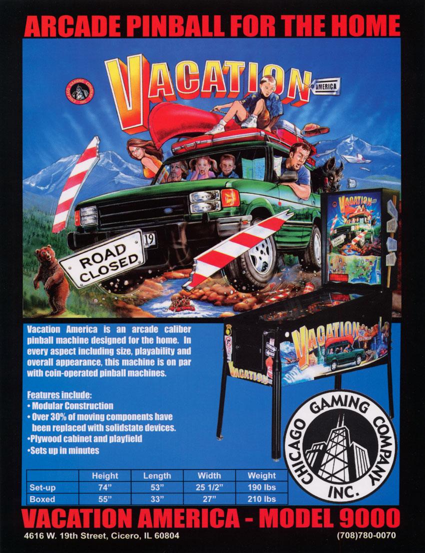 Pinball construction set - Vacation America