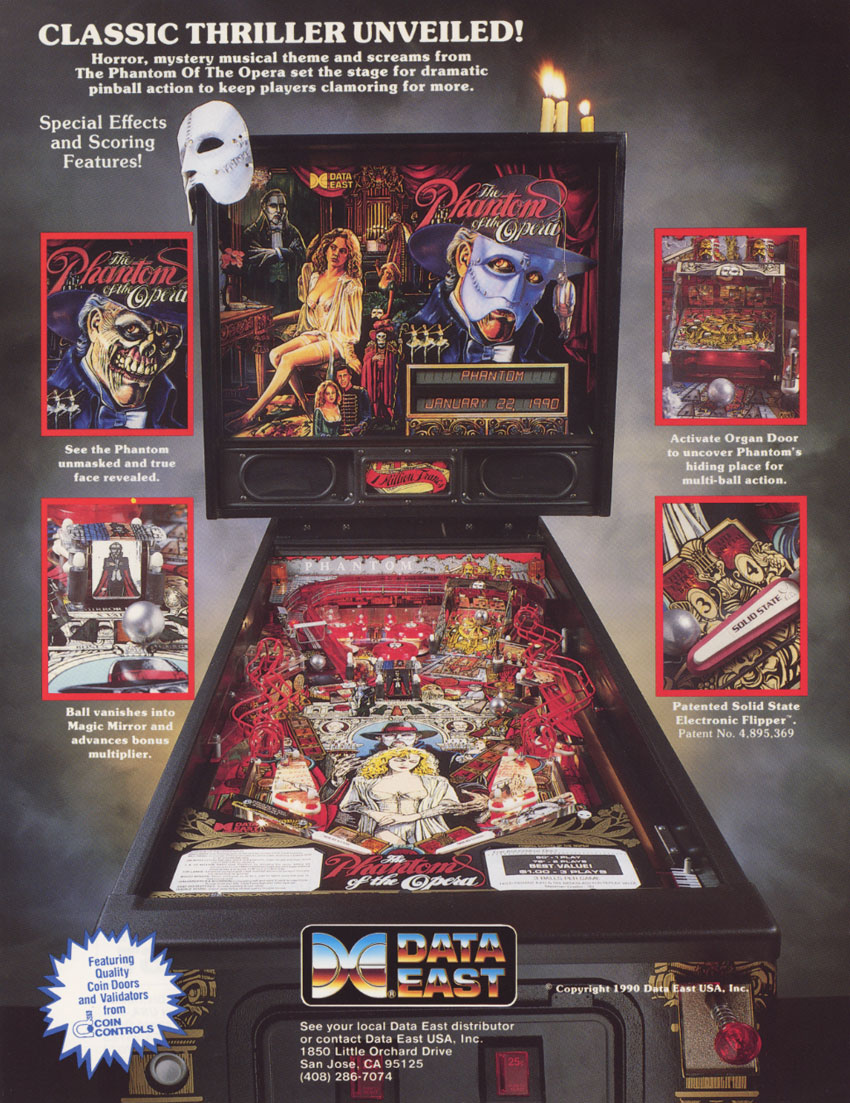 phantom of the opera pinball machine