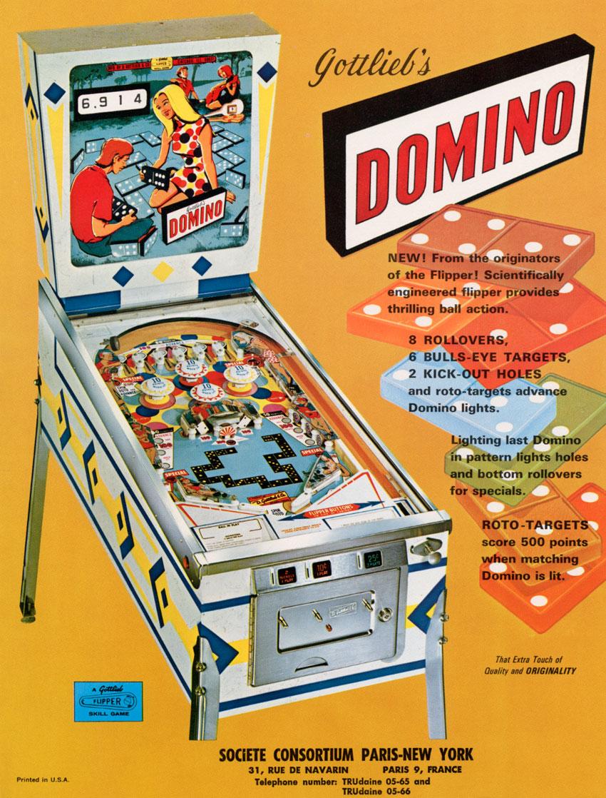 domino pinball machine