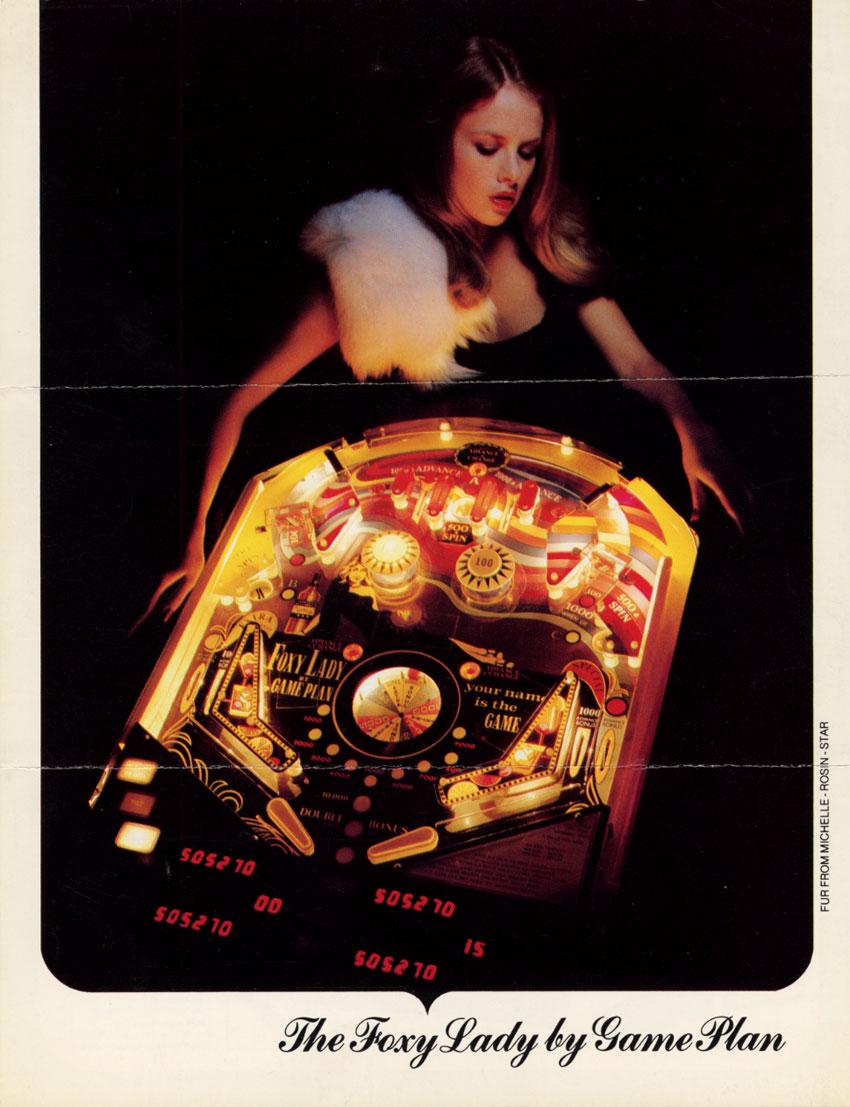 the arcade flyer archive   pinball machine flyers foxy
