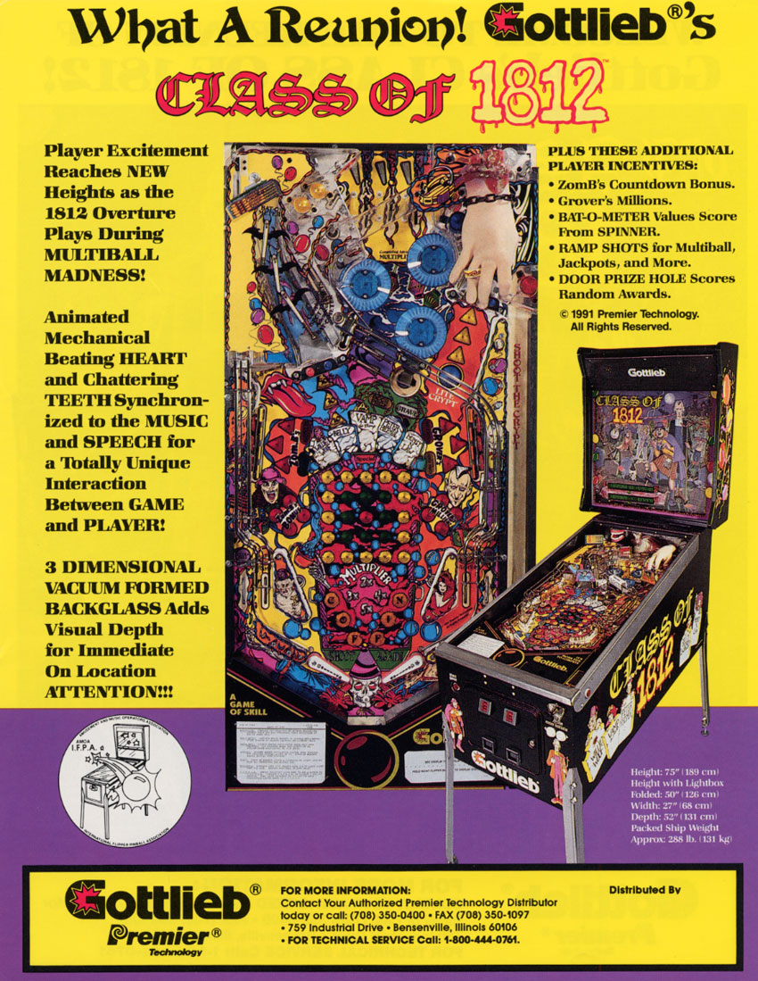 The Arcade Flyer Archive - Pinball Machine Flyers: Class Of