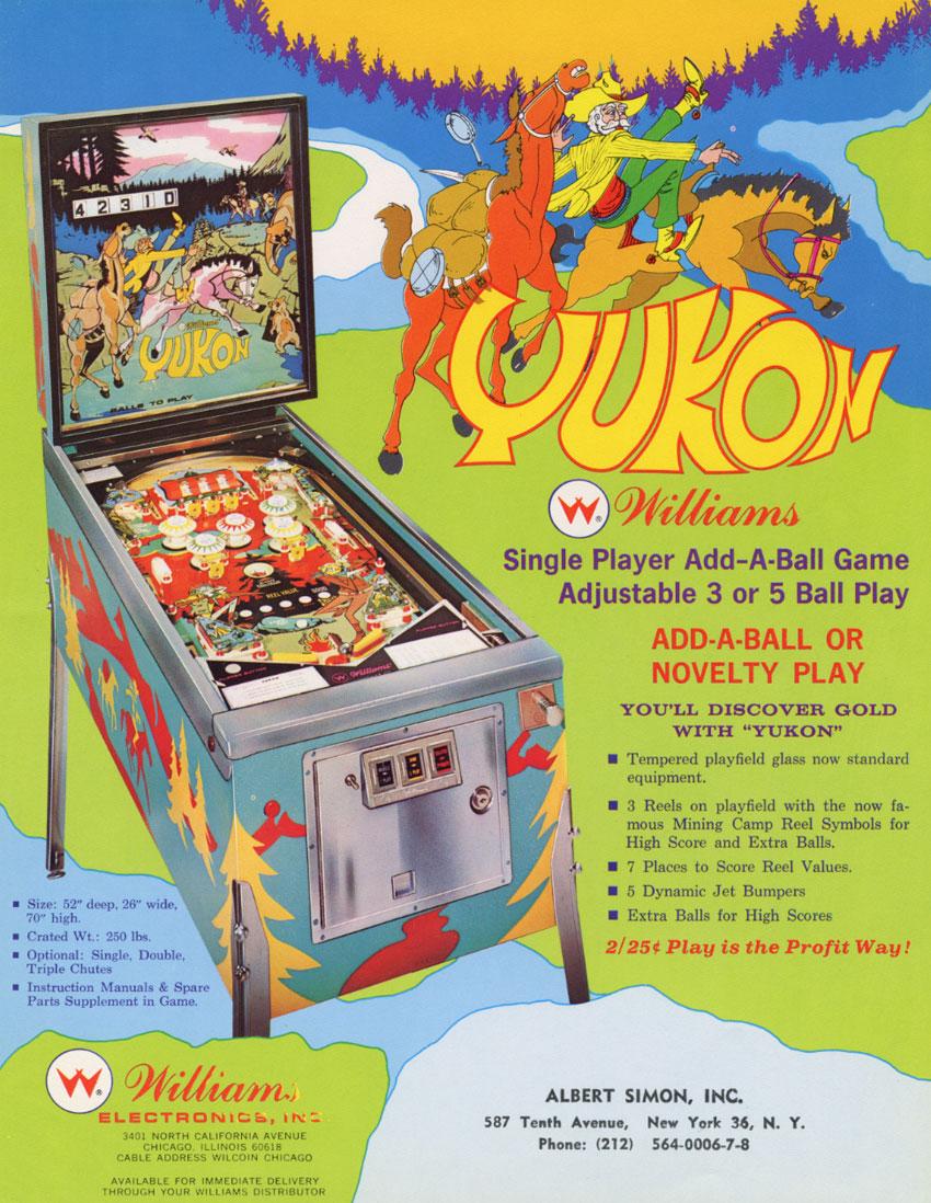 The Arcade Flyer Archive - Pinball Machine Flyers: Yukon, Williams