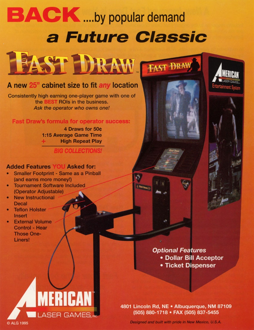 The Arcade Flyer Archive - Video Game Flyers: Fast Draw