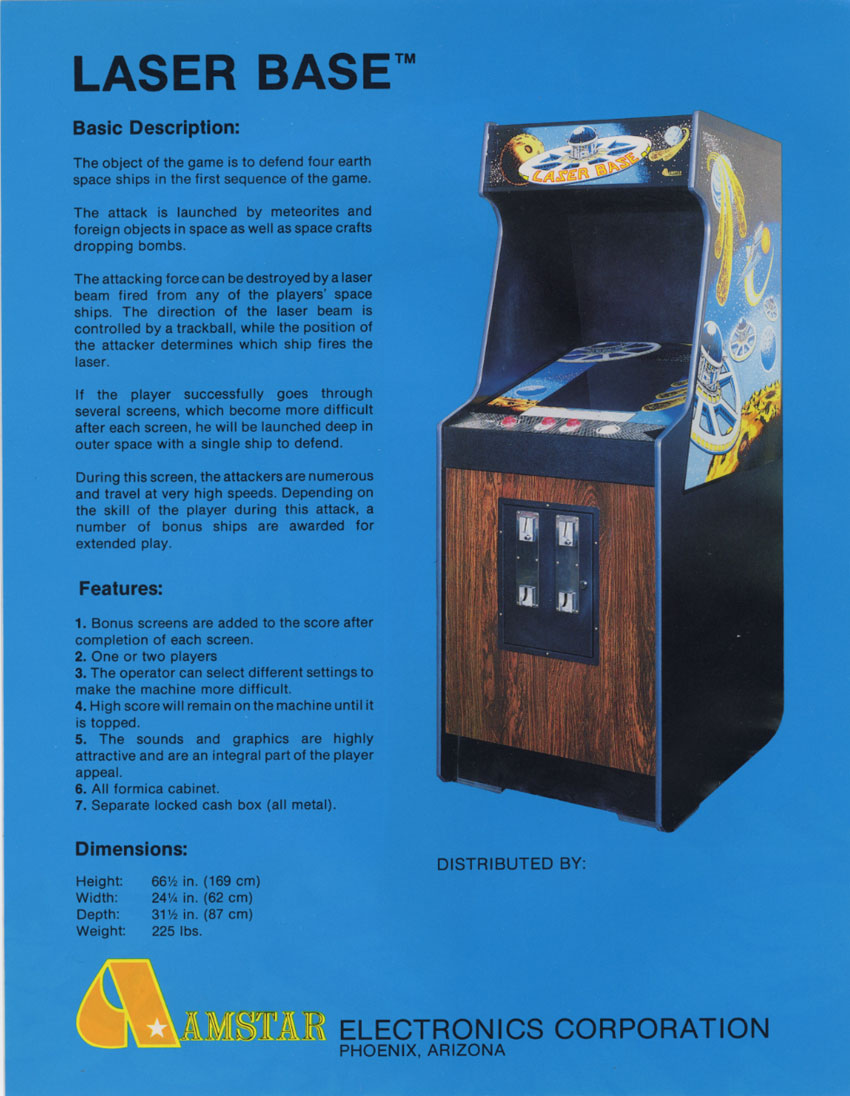 The Arcade Flyer Archive Video Game Flyers Laser Base