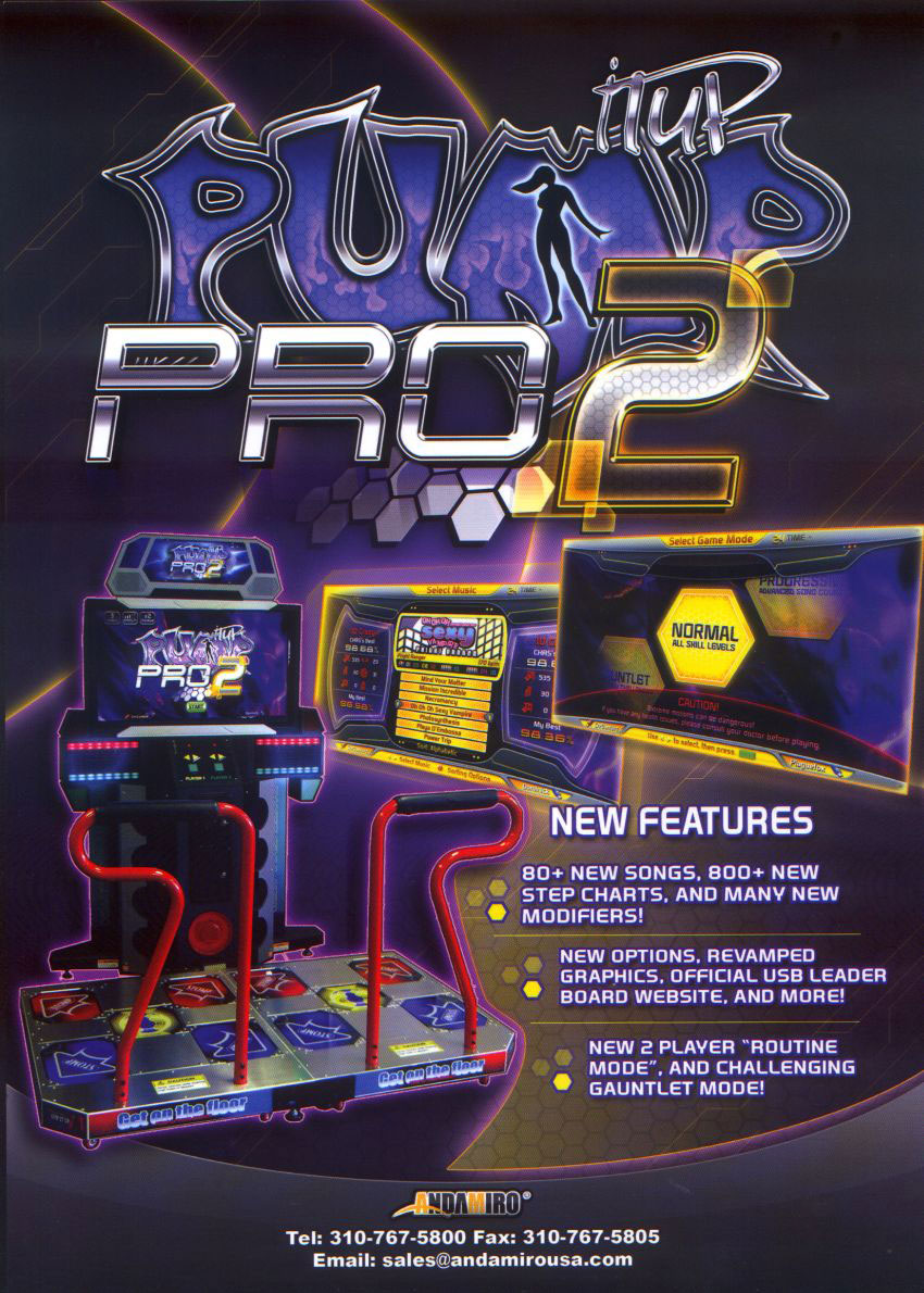 bbbfb76d430d The Arcade Flyer Archive - Video Game Flyers  Pump It Up Pro 2 ...