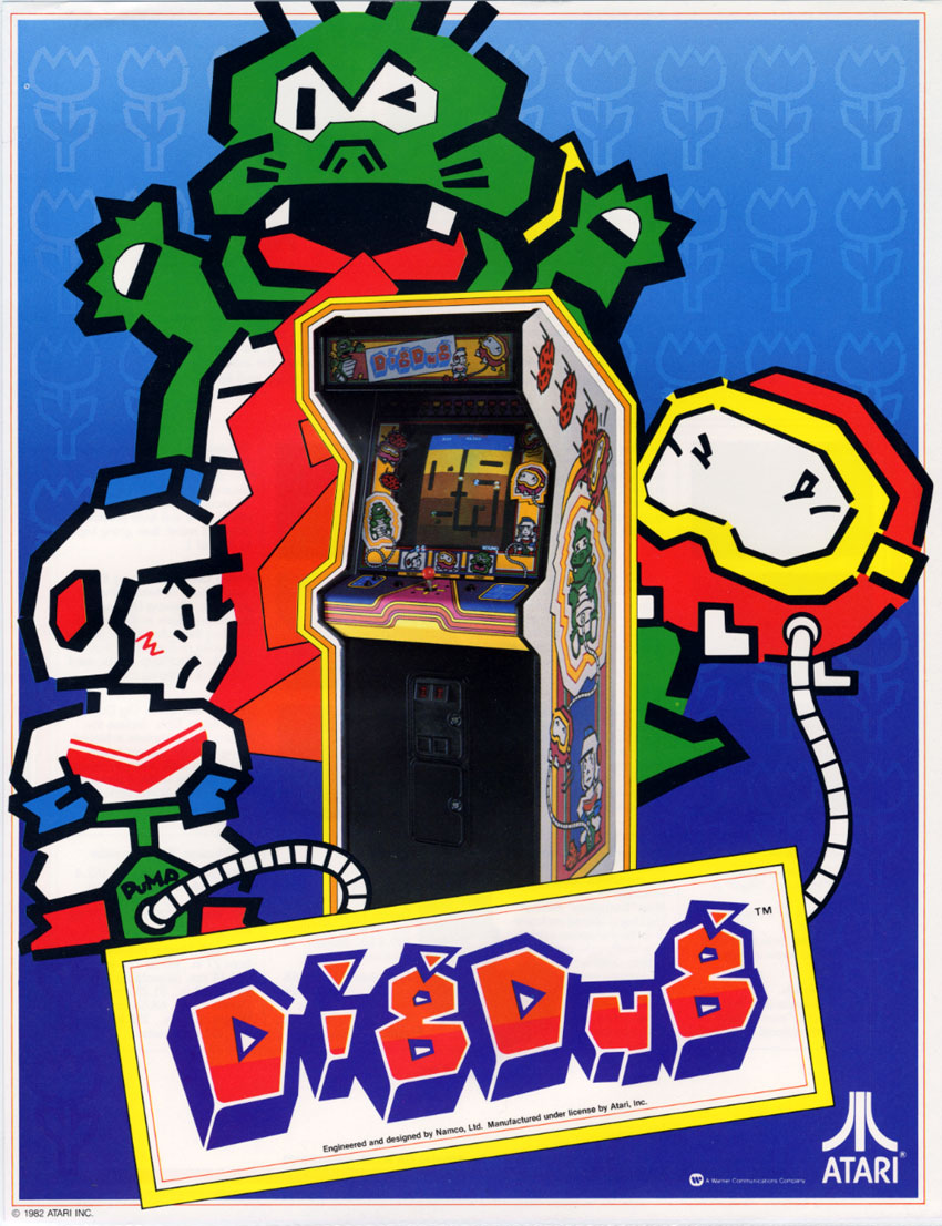 The Arcade Flyer Archive Video Game Flyers Dig Dug Atari Inc