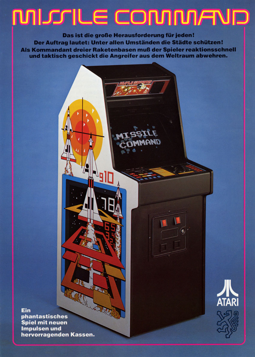 The Arcade Flyer Archive - Video Game Flyers: Missile ...