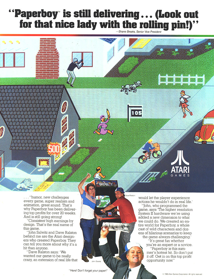 The Arcade Flyer Archive - Video Game Flyers: Paperboy