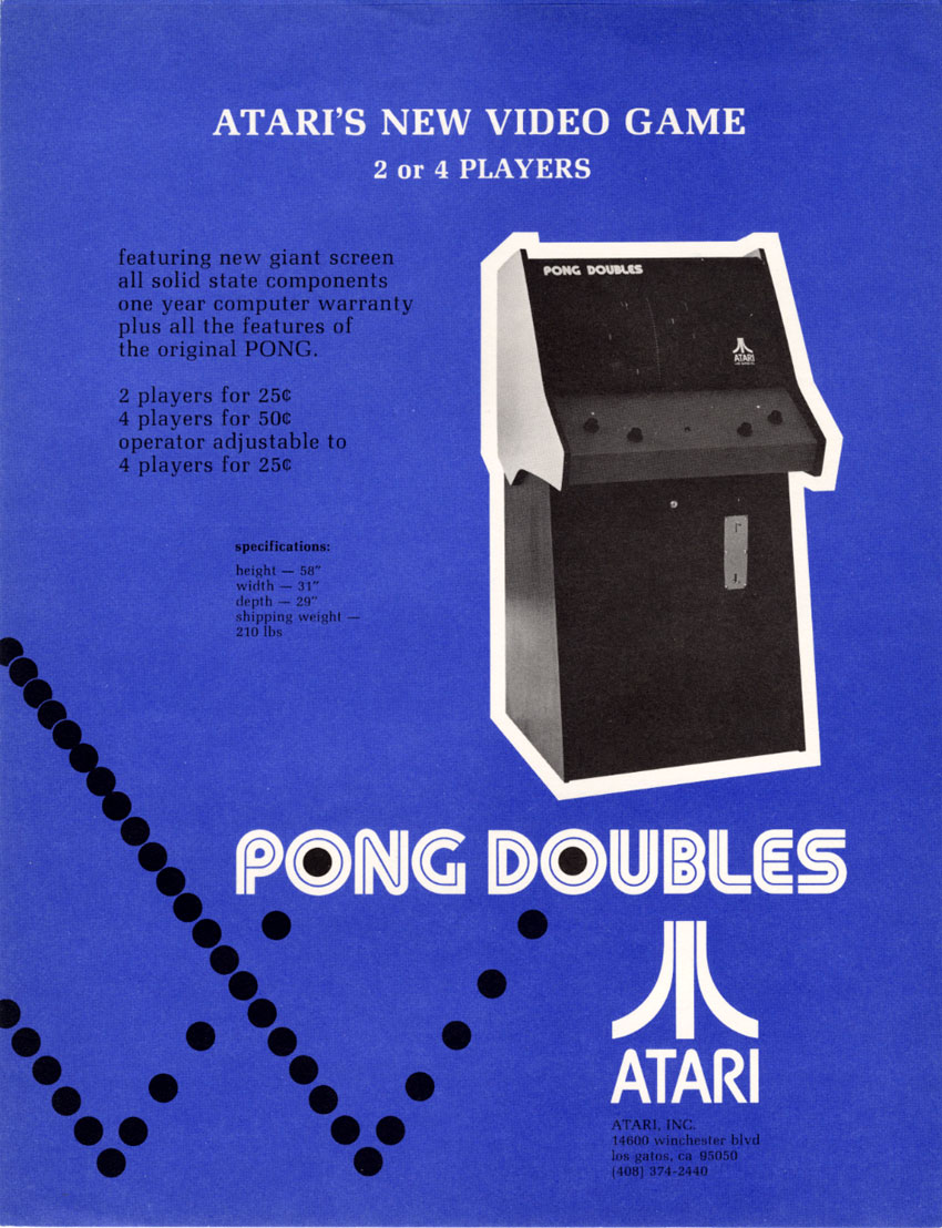 Pong Doubles, 1st 4 player game