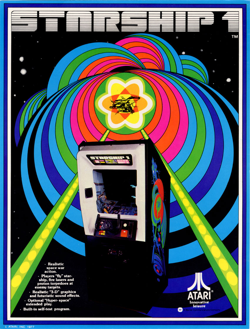 The Arcade Flyer Archive Video Game Flyers Starship 1