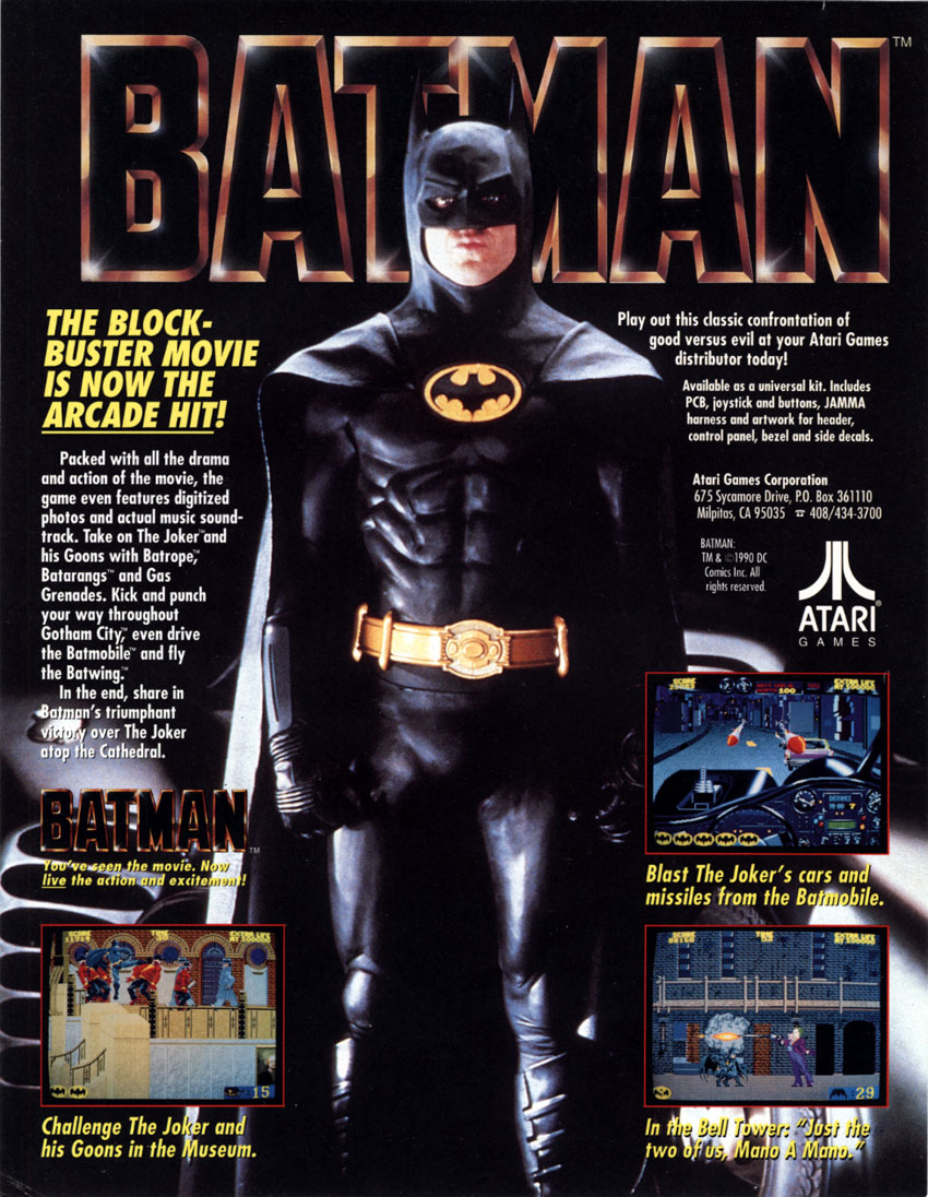 The Arcade Flyer Archive Video Game Flyers Batman