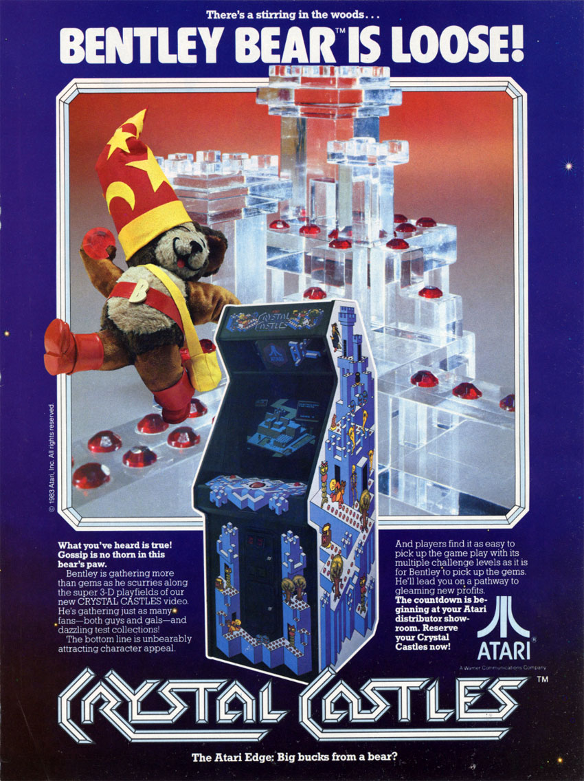 Vintage Arcade Games >> The Arcade Flyer Archive - Video Game Flyers: Crystal Castles, Atari, Inc.