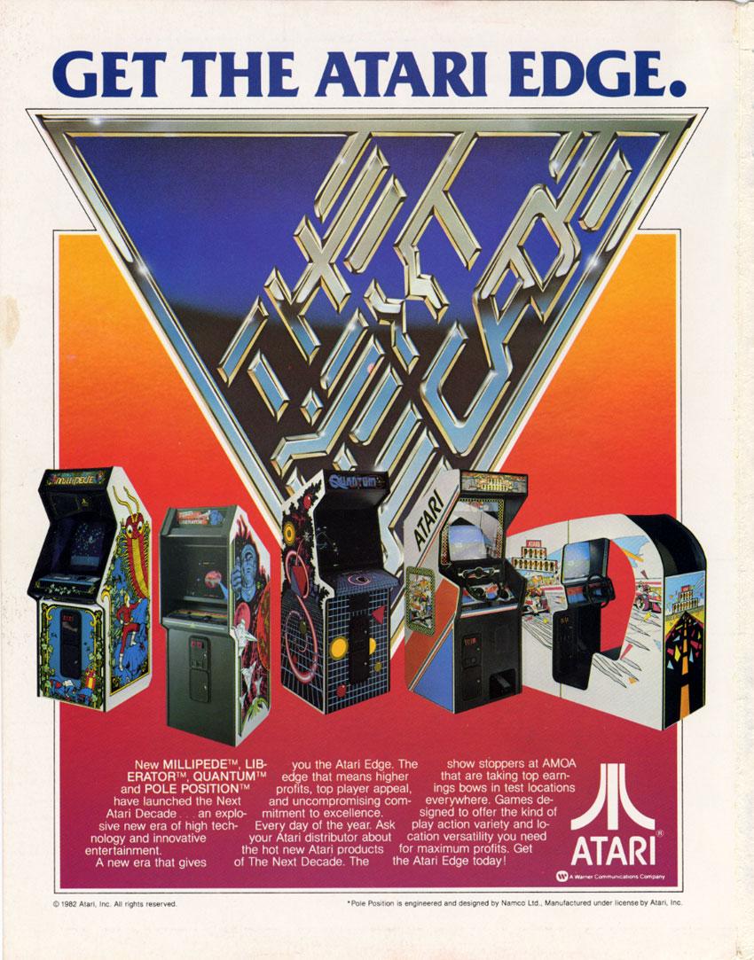 1982 Atari Liberator Video Flyer Manuals & Guides