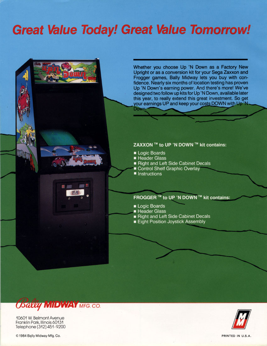 The Arcade Flyer Archive Video Game Flyers Up N Down
