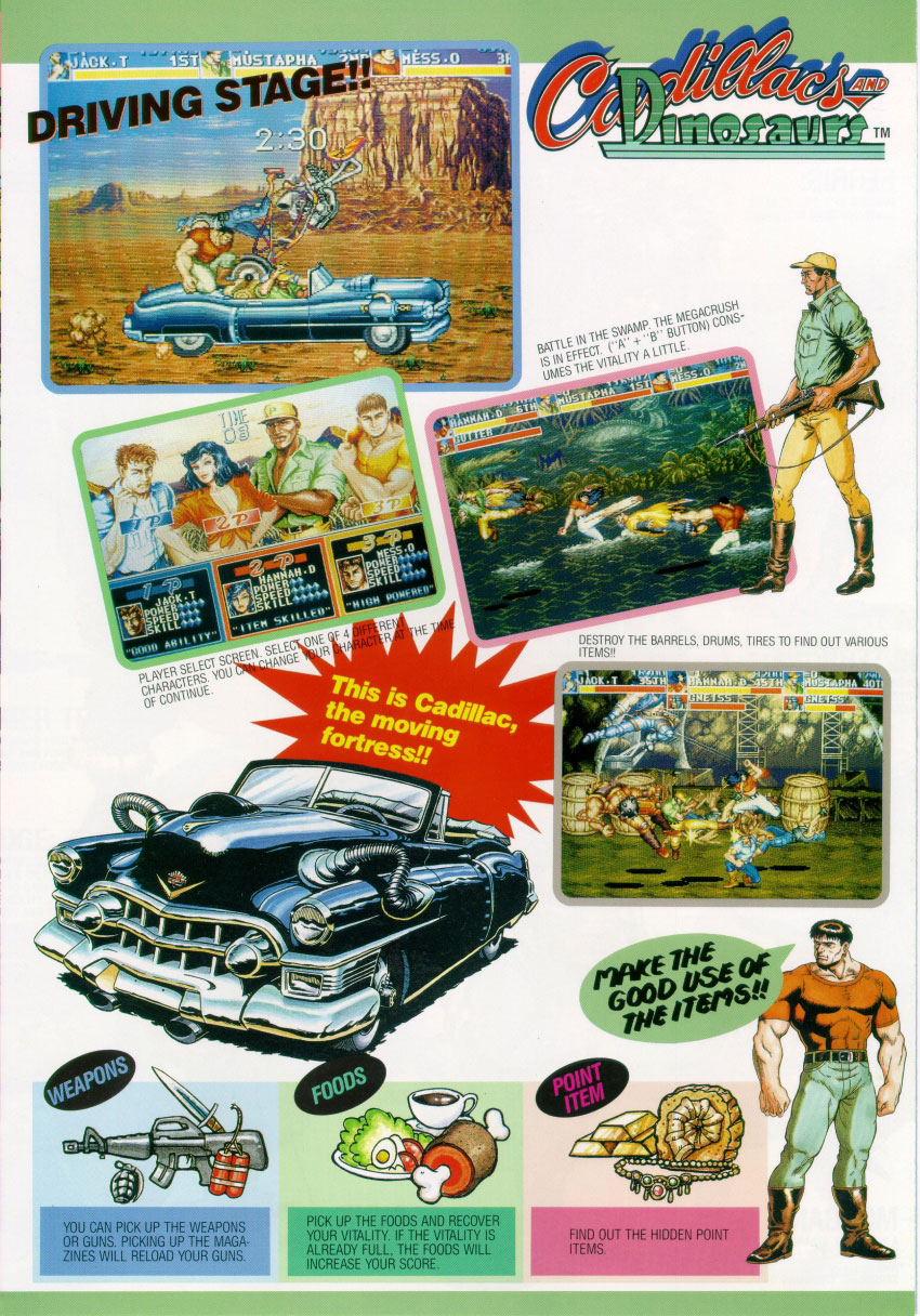 flyer archive video game flyers cadillacs and dinosaurs capcom. Cars Review. Best American Auto & Cars Review