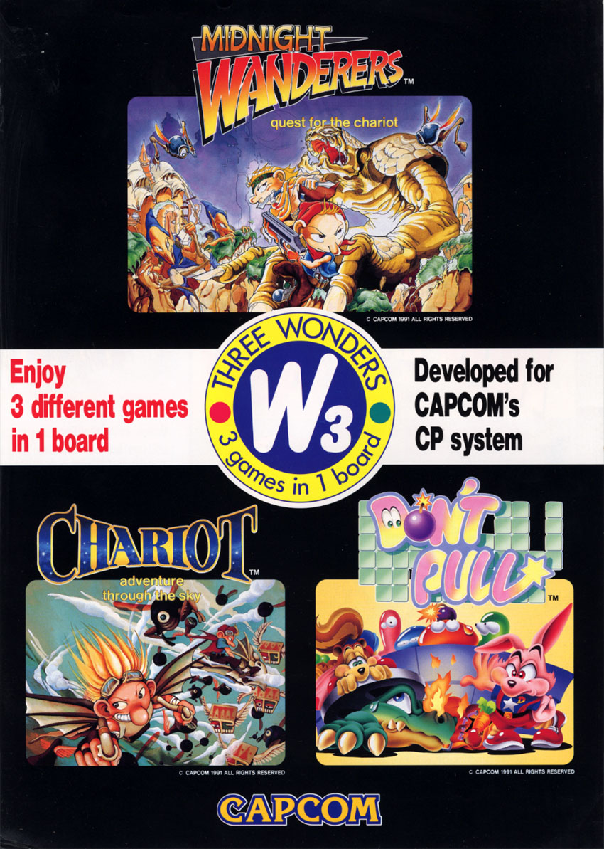 The Arcade Flyer Archive Video Game Flyers 3 Wonders