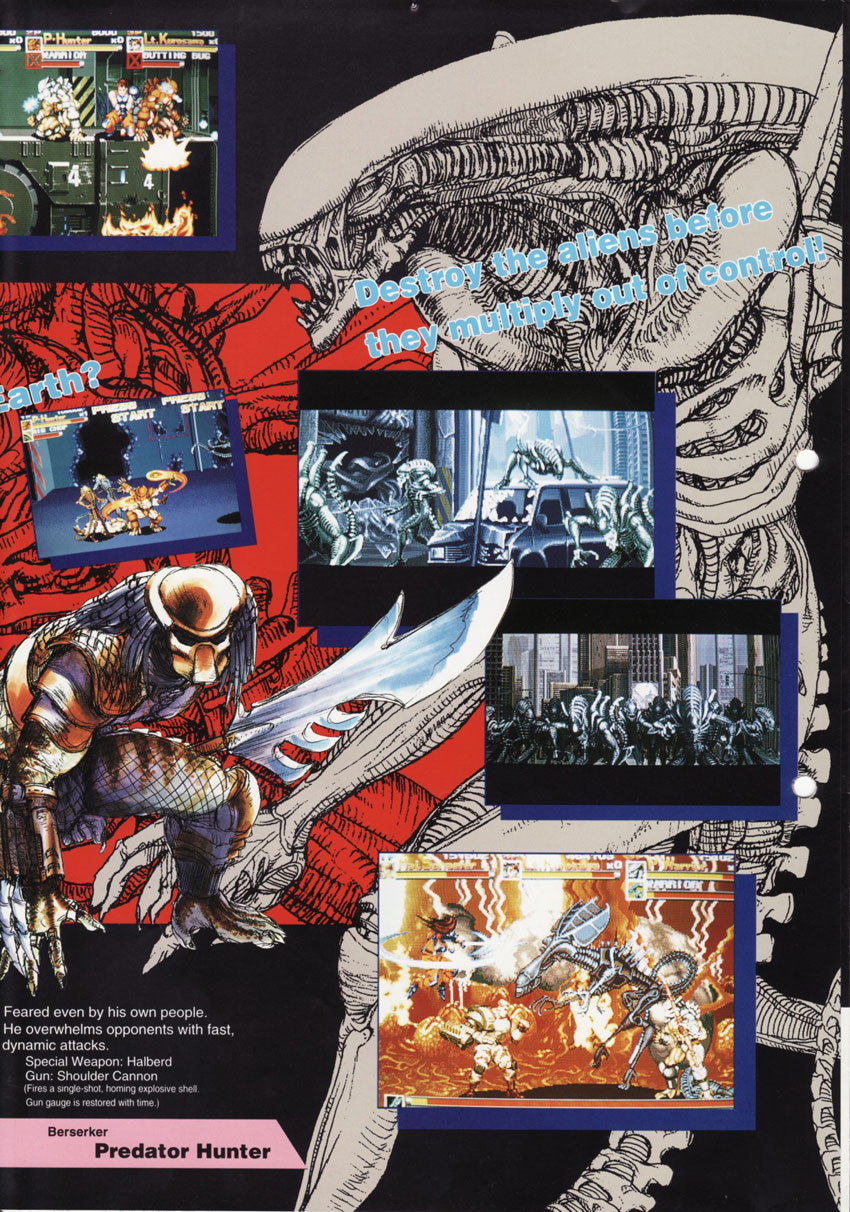 The Arcade Flyer Archive - Video Game Flyers: Alien vs