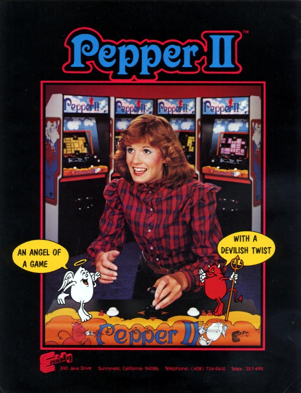 Vintage Arcade Games >> The Arcade Flyer Archive - Video Game Flyers: Pepper II ...