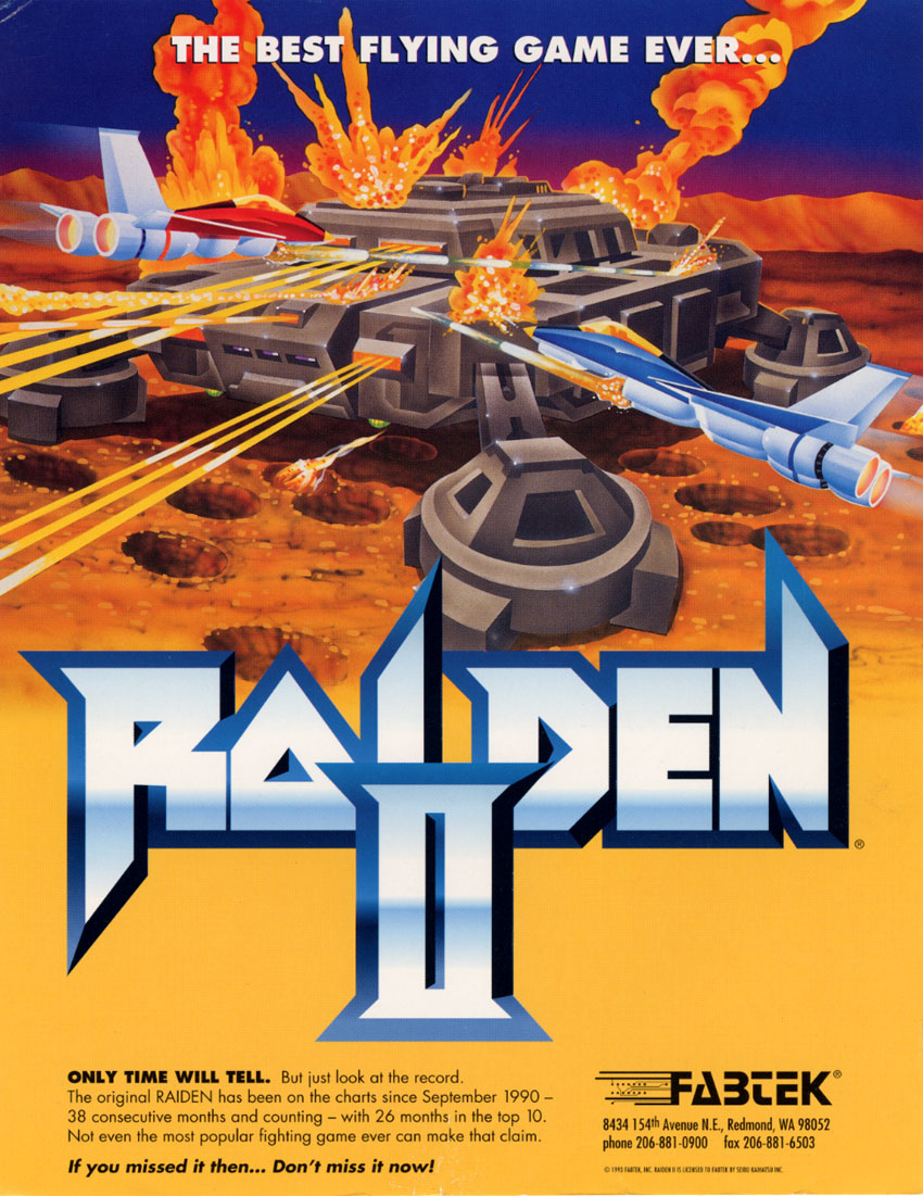 The Arcade Flyer Archive Video Game Flyers Raiden Ii