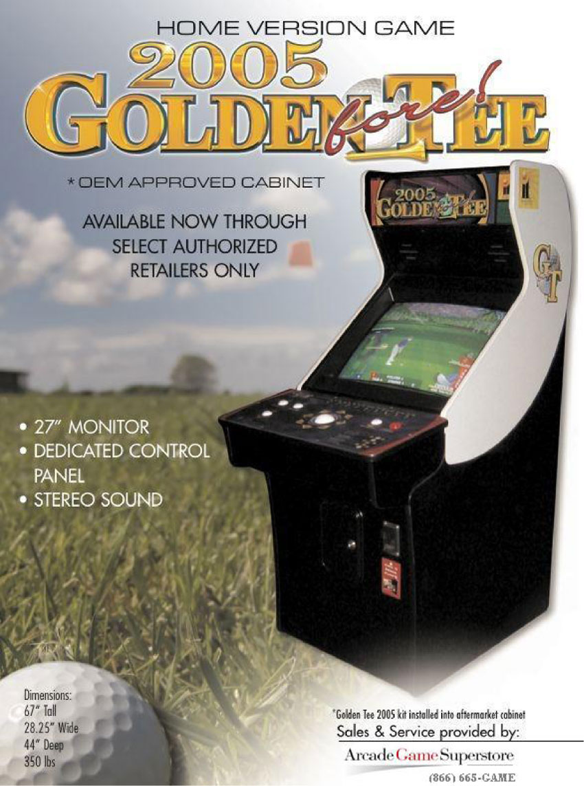 Golden Tee Cabinet The Arcade Flyer Archive Video Game Flyers Golden Tee Fore