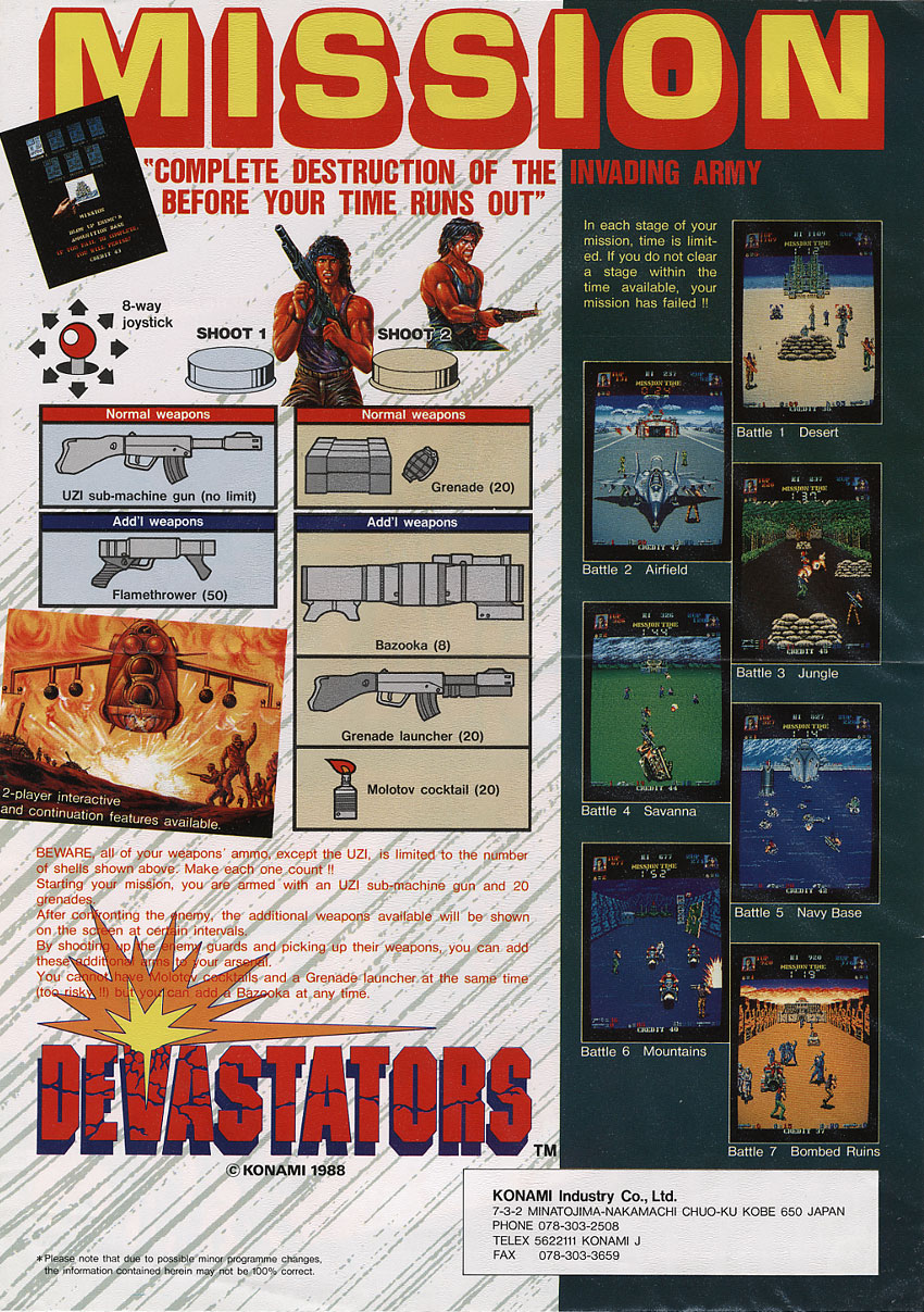 The Arcade Flyer Archive Video Game Flyers Devastators