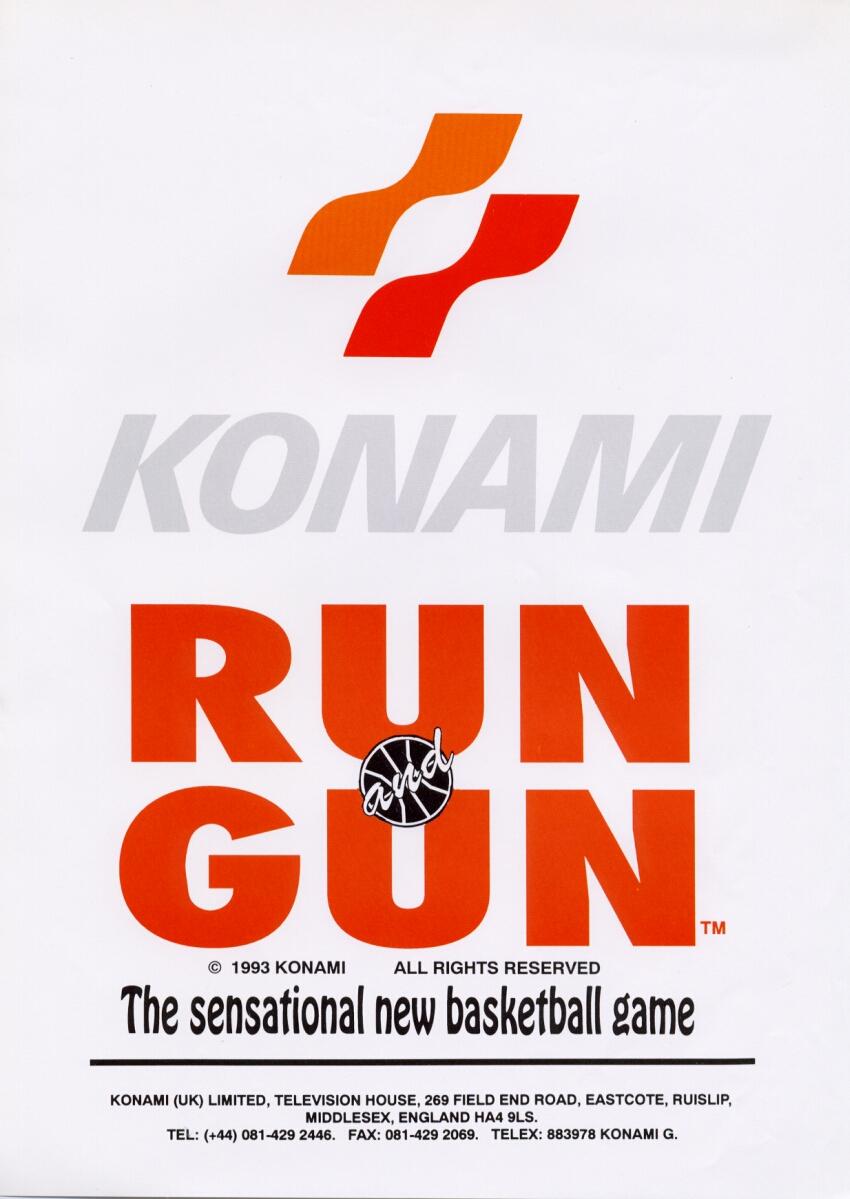 The arcade flyer archive video game flyers run and gun konami run and gun voltagebd Choice Image