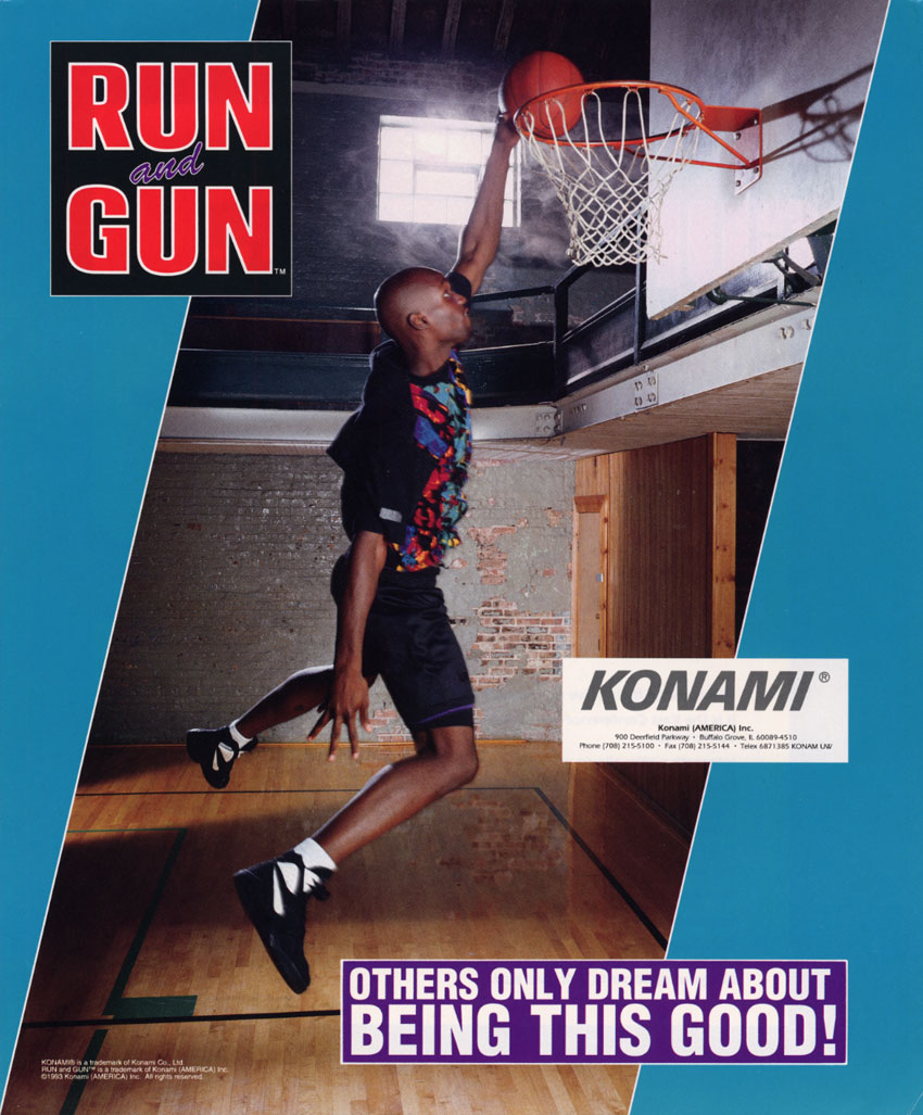 The arcade flyer archive video game flyers run and gun konami