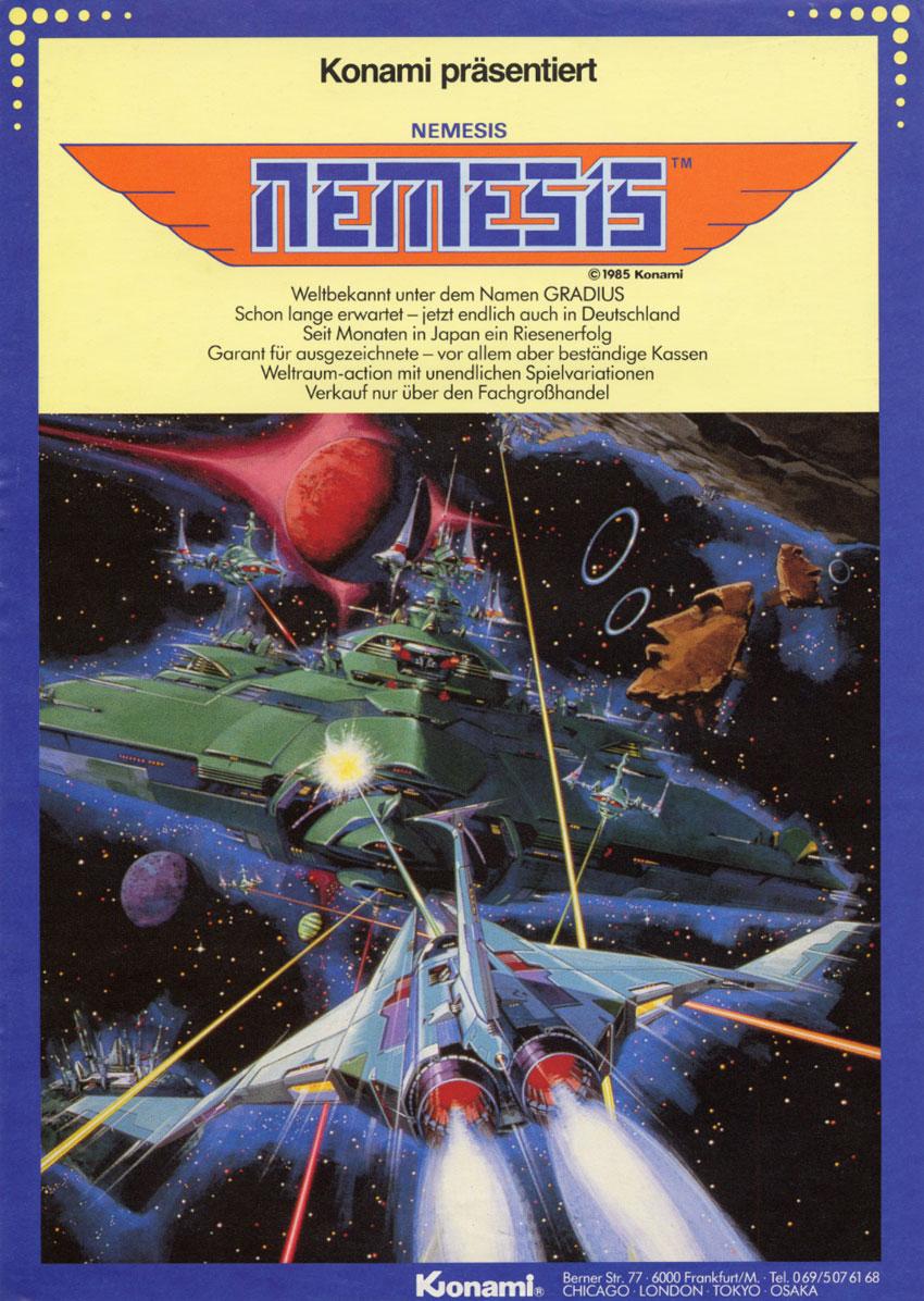 The Arcade Flyer Archive Video Game Flyers Nemesis Konami