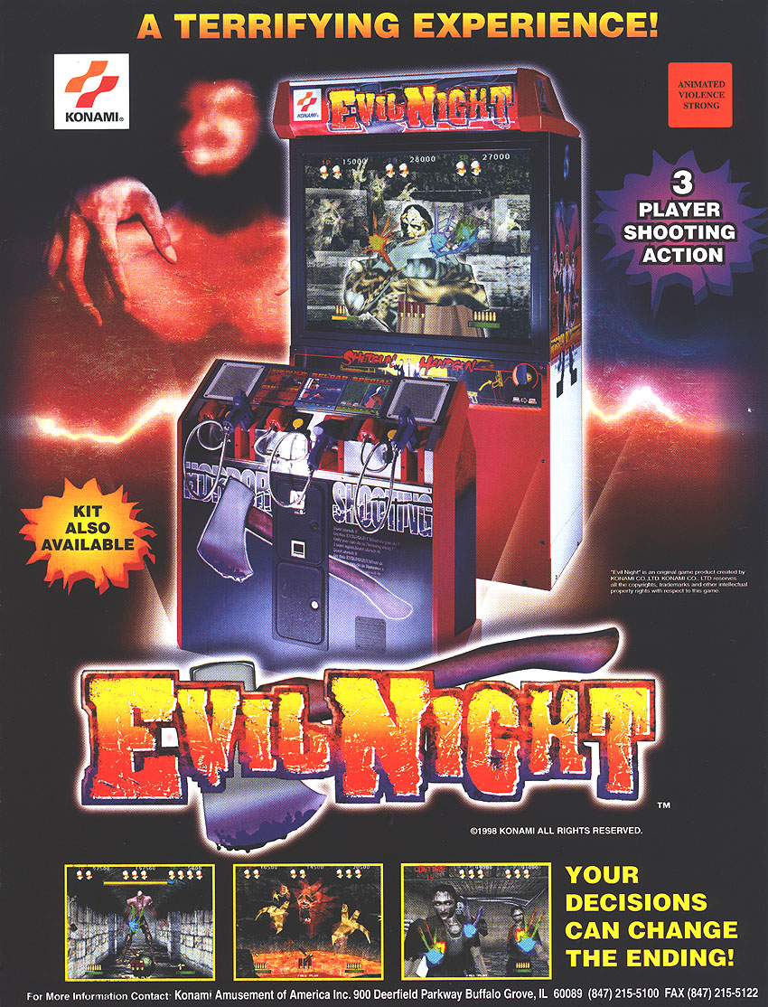 The Arcade Flyer Archive Video Game Flyers Evil Night