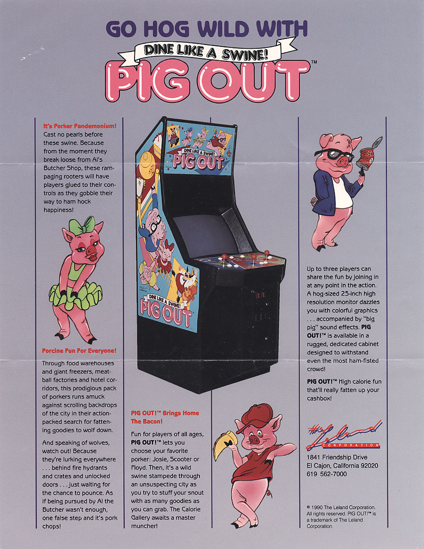 The Arcade Flyer Archive - Video Game Flyers: Pig Out ...