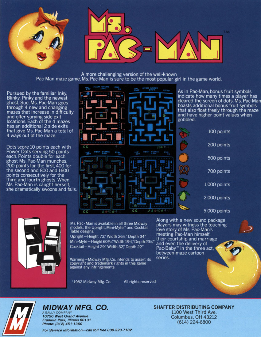 The Arcade Flyer Archive - Video Game Flyers: Ms. Pac-Man