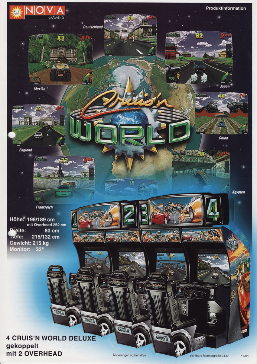 1996 MIDWAY CRUIS/'N WORLD VIDEO FLYER