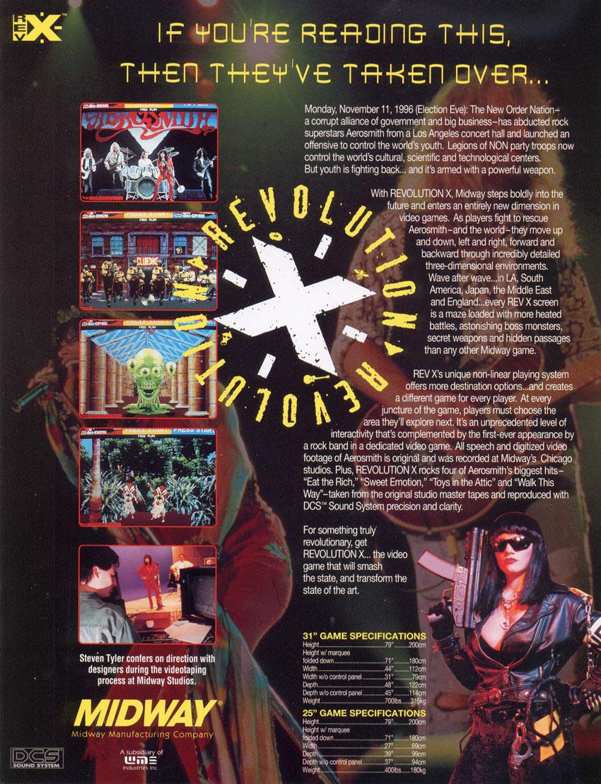 revolution x arcade machine