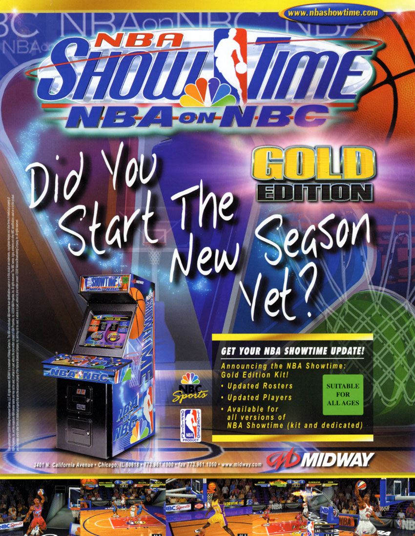 The Arcade Flyer Archive Video Game Flyers Nba Showtime