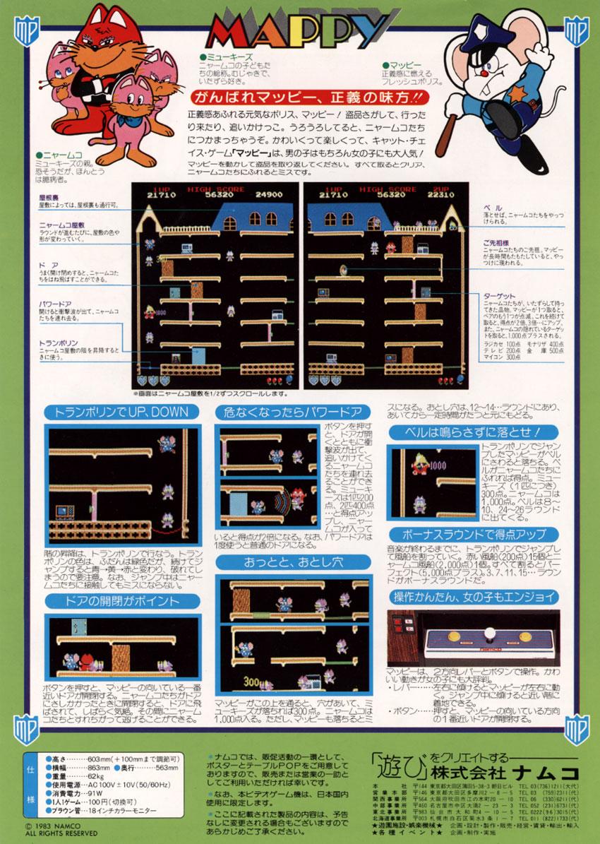 mappy arcade machine